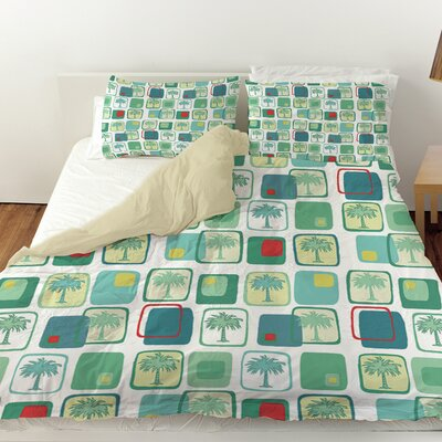 Deco Palm Duvet Cover Size: Twin