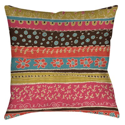 Dream Big Bohemian Indoor/Outdoor Throw Pillow Size: 18 H x 18 W x 5 D