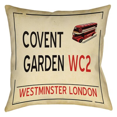 Covent Garden Printed Throw Pillow Size: 14 H x 14 W x 3 D