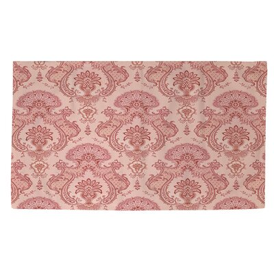 Damask Pattern Pink Area Rug Rug Size: 2 x 3