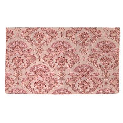 Damask Pattern Pink Area Rug Rug Size: 4 x 6