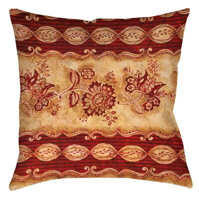 Damask Floral Stripes Indoor/Outdoor Throw Pillow Size: 20 H x 20 W x 5 D
