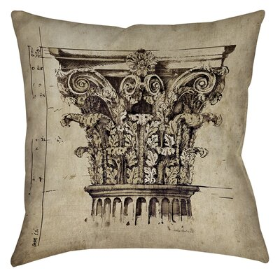 Column II Printed Throw Pillow Size: 26 H x 26 W x 7 D