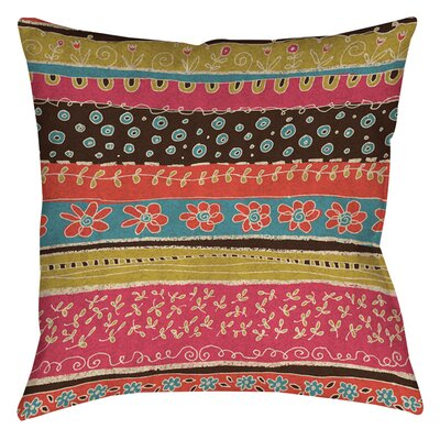 Dream Big Bohemian Printed Throw Pillow Size: 16 H x 16 W x 4 D