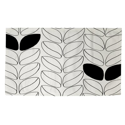 Divisible 2 White Area Rug Rug Size: 4 x 6