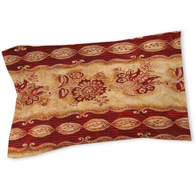 Damask Floral Stripes Sham Size: Queen/King