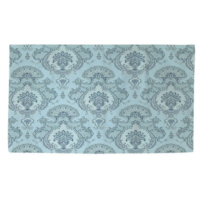 Damask Pattern Blue Area Rug Rug Size: 2 x 3