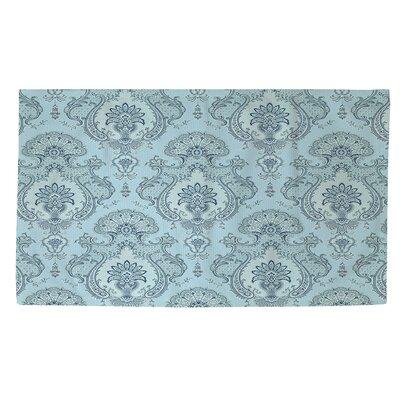 Damask Pattern Blue Area Rug Rug Size: 4 x 6