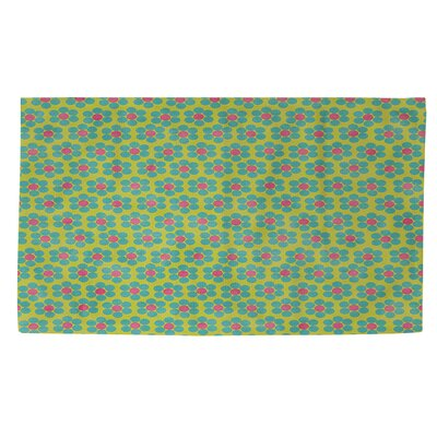 Emilys Ditsy Garden Green/Blue Area Rug Rug Size: 4 x 6