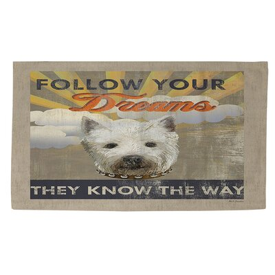 Dog Days - Pek Pup Area Rug Rug Size: 4 x 6