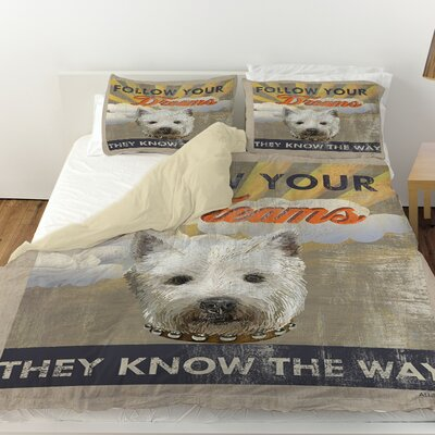 Dog Days - Pek Pup Duvet Cover Size: Twin