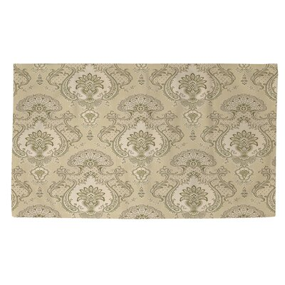 Damask Pattern Taupe Area Rug Rug Size: 4 x 6