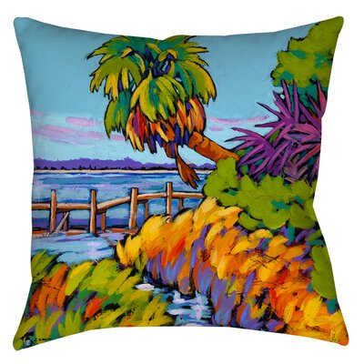 Cloud Nine Marsh Indoor/Outdoor Throw Pillow Size: 16 H x 16 W x 4 D