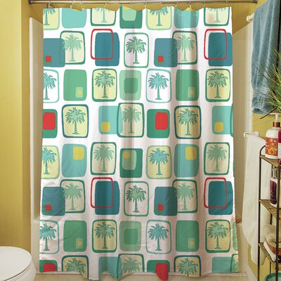 Deco Palm Shower Curtain