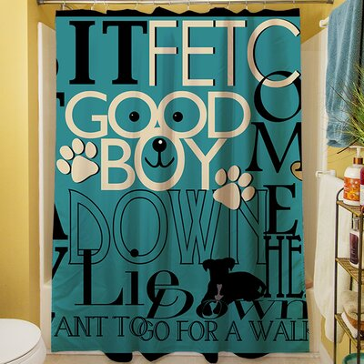 Dog Commands Shower Curtain
