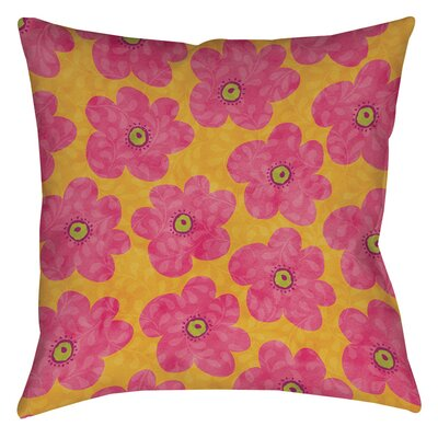 Emilys Ditsy Garden Printed Throw Pillow Size: 26 H x 26 W x 7 D