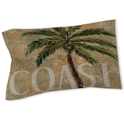 Coastal Palm Postcard Sham Size: Queen/King