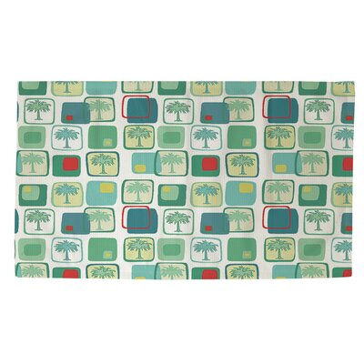 Deco Palm Area Rug Rug Size: 4 x 6