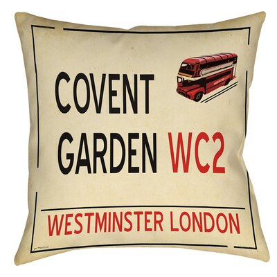 Covent Garden Indoor/Outdoor Throw Pillow Size: 18 H x 18 W x 5 D