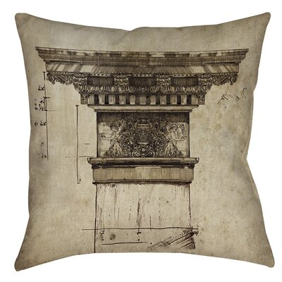 Column I Indoor/Outdoor Throw Pillow Size: 16 H x 16 W x 4 D