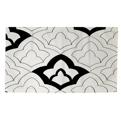 Divisible 1 White Area Rug Rug Size: 4' x 6'