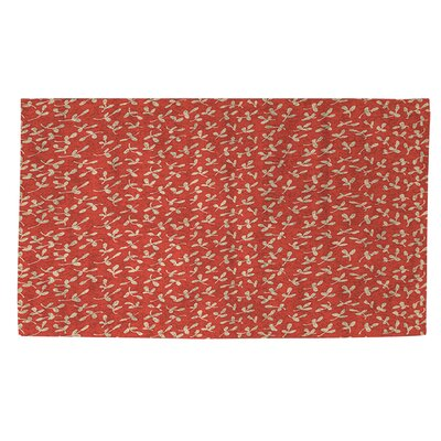 Dream Big Ditsy Florals Orange Area Rug Rug Size: 2' x 3'