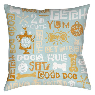 Dog Bark Indoor/Outdoor Throw Pillow Size: 20 H x 20 W x 5 D