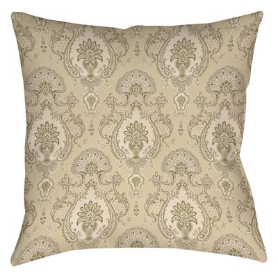 Damask Polyester Throw Pillow Size: 16 H x 16 W x 4 D, Color: Taupe