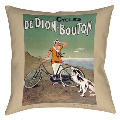 Cycles De Doin Bouton Printed Throw Pillow Size: 16 H x 16 W x 4 D