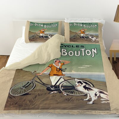 Cycles De Doin Bouton Duvet Cover Size: Twin