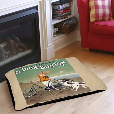 Cycles De Doin Bouton Indoor/Outdoor Pet Bed Size: 28 L x 18 W