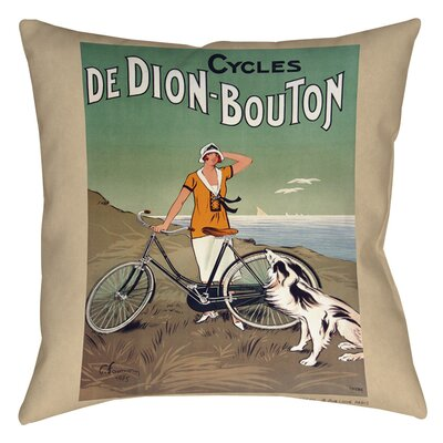 Cycles De Doin Bouton Indoor/Outdoor Throw Pillow Size: 20 H x 20 W x 5 D