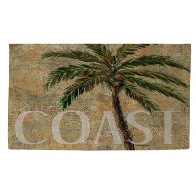 Coastal Palm Postcard Beige Area Rug Rug Size: 4 x 6