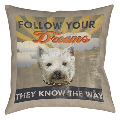 Dog Days - Pek Pup Printed Throw Pillow Size: 16 H x 16 W x 4 D