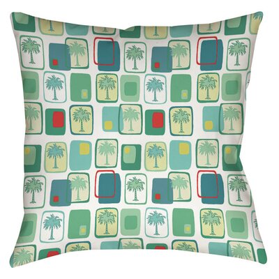 Deco Palm Indoor/Outdoor Throw Pillow Size: 16 H x 16 W x 4 D