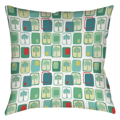Deco Palm Printed Throw Pillow Size: 14 H x 14 W x 3 D