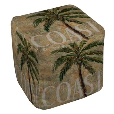 Coastal Palm Postcard Ottoman