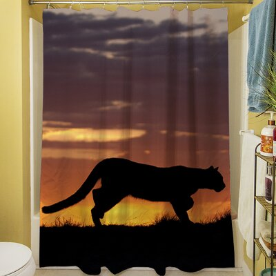 Cougar Silhouette Shower Curtain