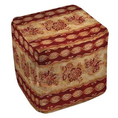 Damask Floral Stripes Ottoman 888635467043