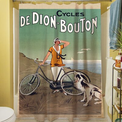 Cycles De Doin Bouton Shower Curtain