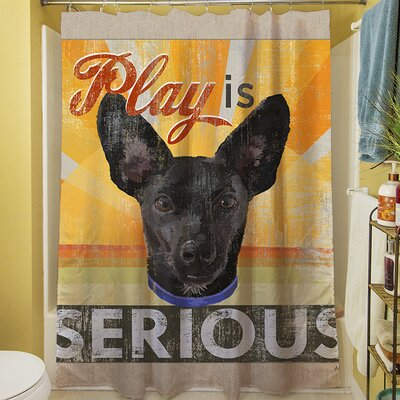Dog Days - Little Black Pup Shower Curtain