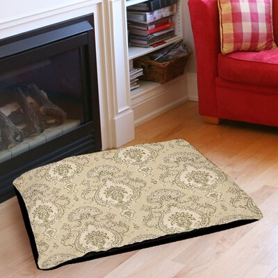 Damask Pattern Indoor/Outdoor Pet Bed Size: 28 L x 18 W, Color: Taupe