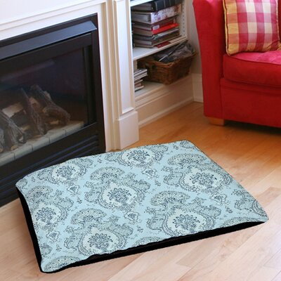 Damask Pattern Indoor/Outdoor Pet Bed Size: 50 L x 40 W, Color: Blue