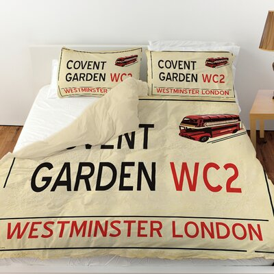 Covent Garden Duvet Cover Size: King