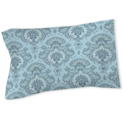 Damask Pattern Sham Size: Queen/King, Color: Blue
