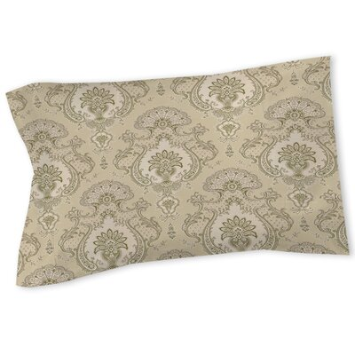 Damask Pattern Sham Size: Queen/King, Color: Taupe