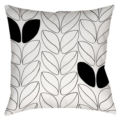 Divisible 2 Printed Throw Pillow Size: 16 H x 16 W x 4 D