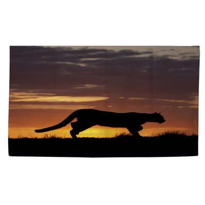 Cougar Silhouette Brown Area Rug Rug Size: 2 x 3
