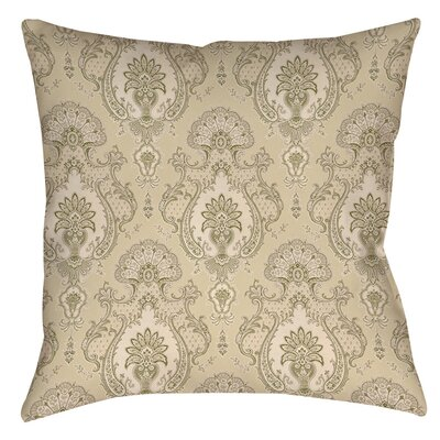 Damask Pattern Indoor/Outdoor Throw Pillow Size: 16 H x 16 W x 4 D, Color: Taupe