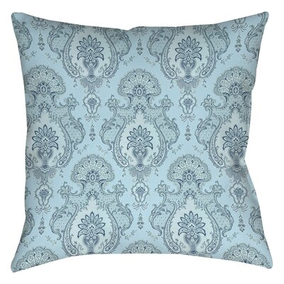 Damask Pattern Indoor/Outdoor Throw Pillow Size: 18 H x 18 W x 5 D, Color: Blue